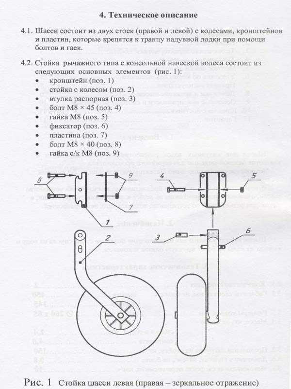 инструкция по монтажу транцевых колес